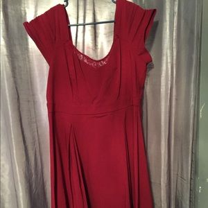 Red torrid skater dress.. size 20